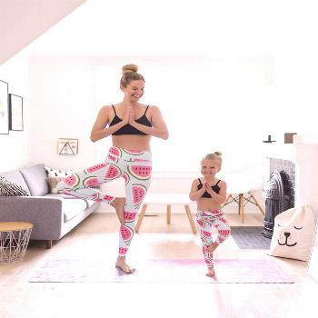 5 tips for staying active with young kids   Flexi Lexi mother daughter yoga leggings