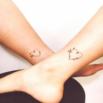 Beautiful Floral Heart Tattoos - Mother Daughter Tattoos - Mother Tattoos - MomCanvas        Petit