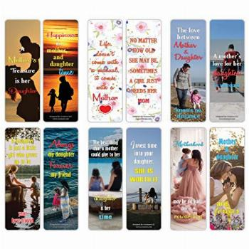 Creanoso Mother and Daughter Sayings Quote Bookmarks