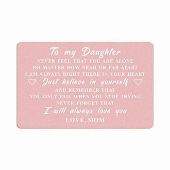 Daughter Gifts Wallet Card from mom, To My Daughter Never