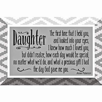 Daughter Glass Plaque with Inspiring Quotes 4x6 - Classic