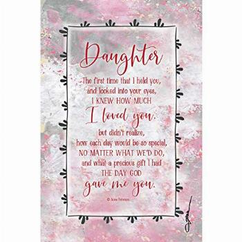 Daughter Wood Plaque Inspiring Quotes 6x9 - Vertical Frame