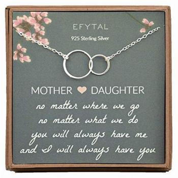EFYTAL Gifts for Mom and Daughter, Sterling Silver Infinity
