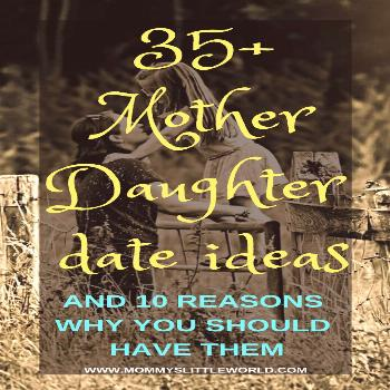Every parent should do dates with their child once in a while. Get inspired with these mother daugh