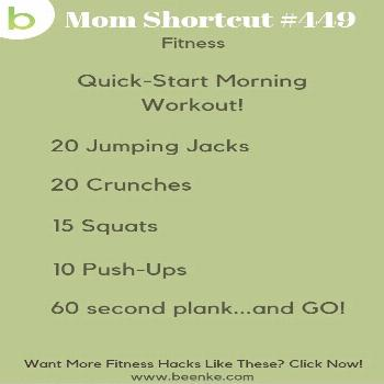Fitness Hacks! Short on time? Here's a quick and effective morning workout to get up and out the do