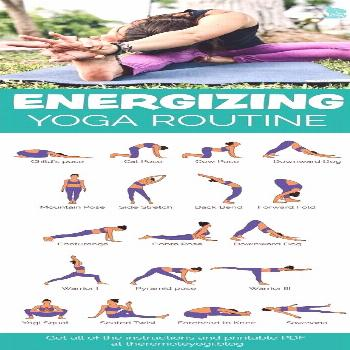 Free Printable PDF - Energizing Morning Yoga Routine. This quick practice can be done from anywhere