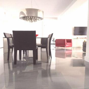 Grey metallic epoxy flooring manufactured by CTM Adhesives Inc. In Montreal, QC#adhesives