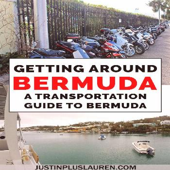 How can you get around Bermuda when tourists aren't allowed to rent cars? There are so many transpo