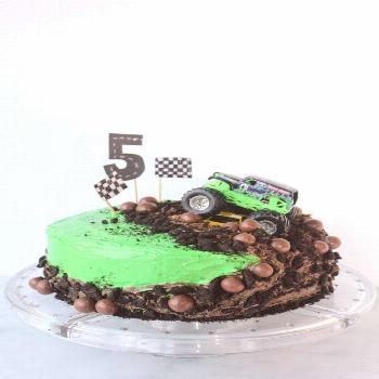 How to Make a Monster Truck Cake -The easiest cake you'll ever make!