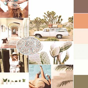 July 2017 mood board curated using influence and inspiration from the gorgeous Southwest desert //
