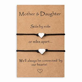 MANVEN Mom Gifts from Daughter Mom and Daughter Bracelets
