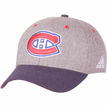 Men's adidas Gray Montreal Canadiens Two-Tone Structured Adjustable Hat