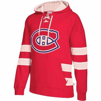 Men's CCM Red Montreal Canadiens Jersey Pullover Hoodie, Size: XL