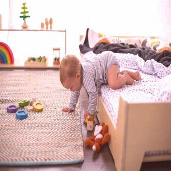 Montessori Floor Bed Sweet and simple Montessori room for baby