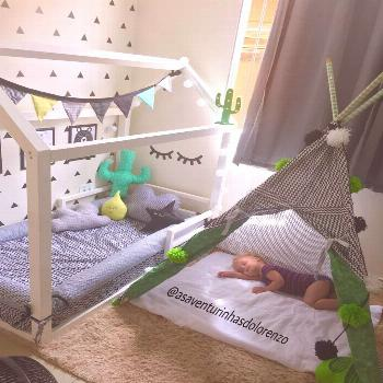 Montessori toddler beds Frame bed House bed house Wood house Kids teepee Baby bed Nursery bed Platf