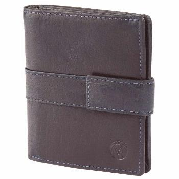 Montreal Vertical Navy Blue RFID Leather Wallet modemasculine