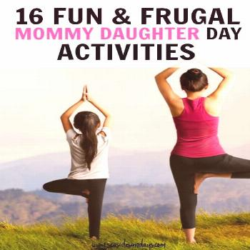 Mother Daughter Date Ideas! This is a great list of things to do on a mommy daughter day out. Lots
