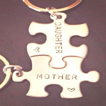 Mother Daughter Gifts Mother Daughter Keychain Mother | Etsy