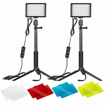 Neewer 2-Pack Dimmable 5600K USB LED Video Light with