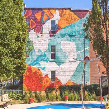 The mural was carried out by Annie Hamel, a Montreal mural artist who has undertaken several collab