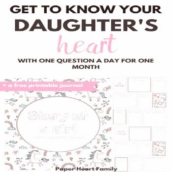 This printable mother daughter journal will provide the perfect way for you to get to know your dau