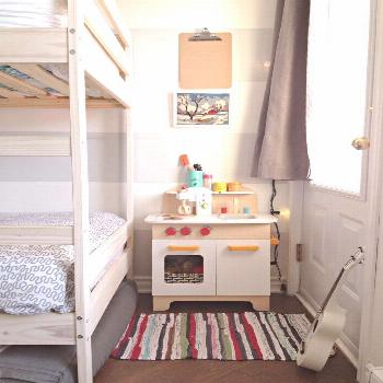Three Kids Share One Masterfully Organized Montreal Bedroom#bedroom