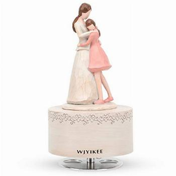 WJYIKEE Music Box Sculpted Hand-Painted Musical Figure Warm
