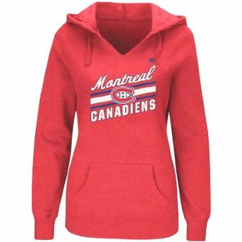Women's Majestic Red Montreal Canadiens Backchecking Hoodie