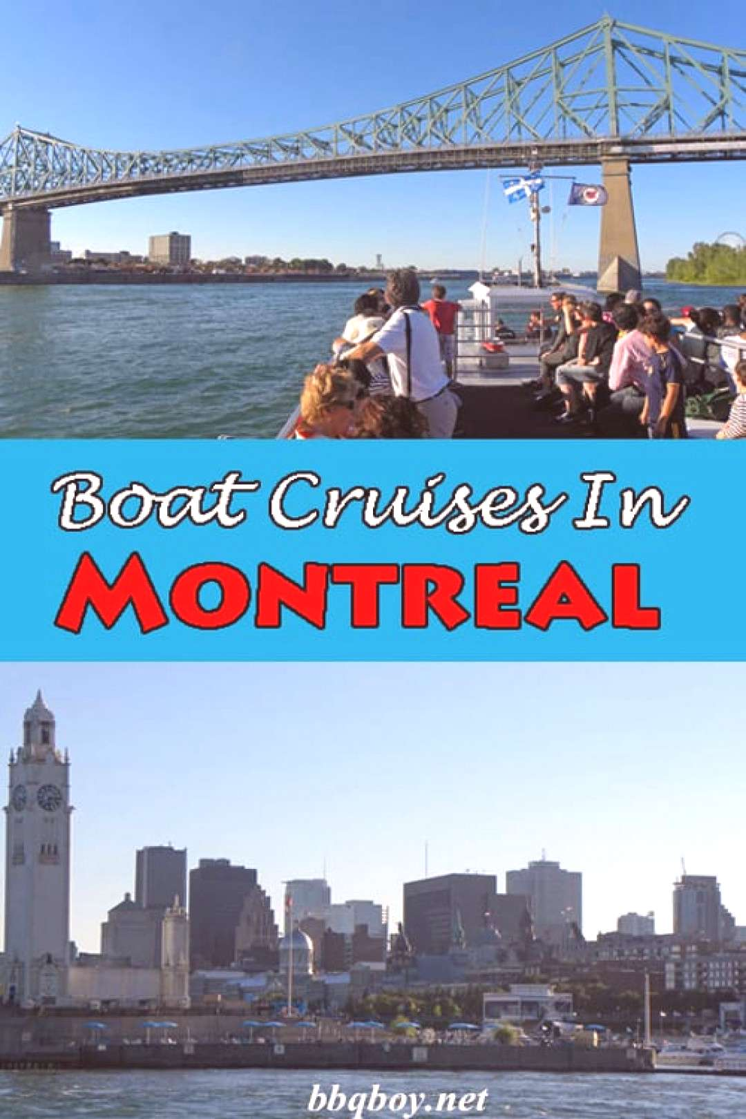 A lot of tourists coming to Montreal decide to take a boat cruise to see the city from a different