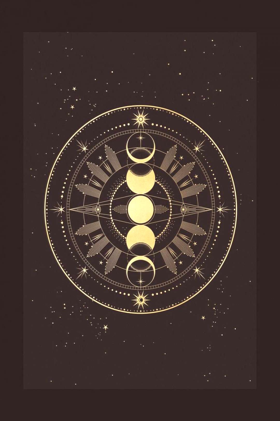 A Moon Phase totem, manifesting the moon phases and the angel planet guarding us. A manifestation t