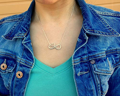 EFYTAL Mom Gifts, 925 Sterling Silver Infinity with Heart