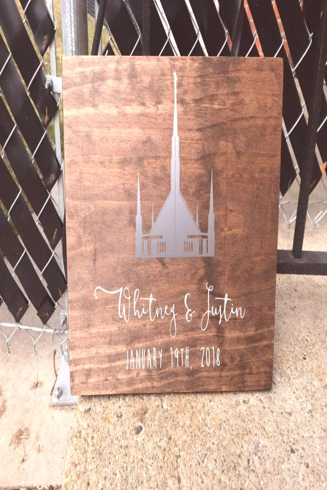 Excited to share this item from my shop LDS/Mormon Temple Wedding Sealing Date Vinyl Wood Sign
