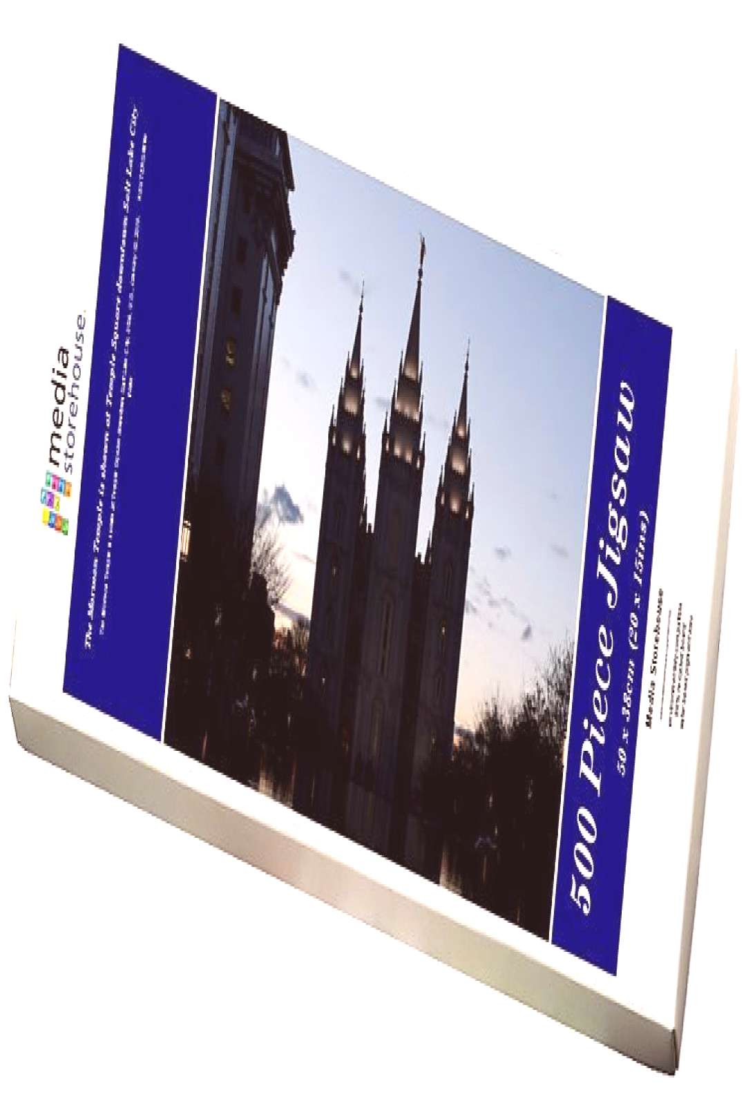Jigsaw Puzzle-The Mormon Temple is shown at Temple Square downtown Salt Lake City-500 Piece Jigsaw