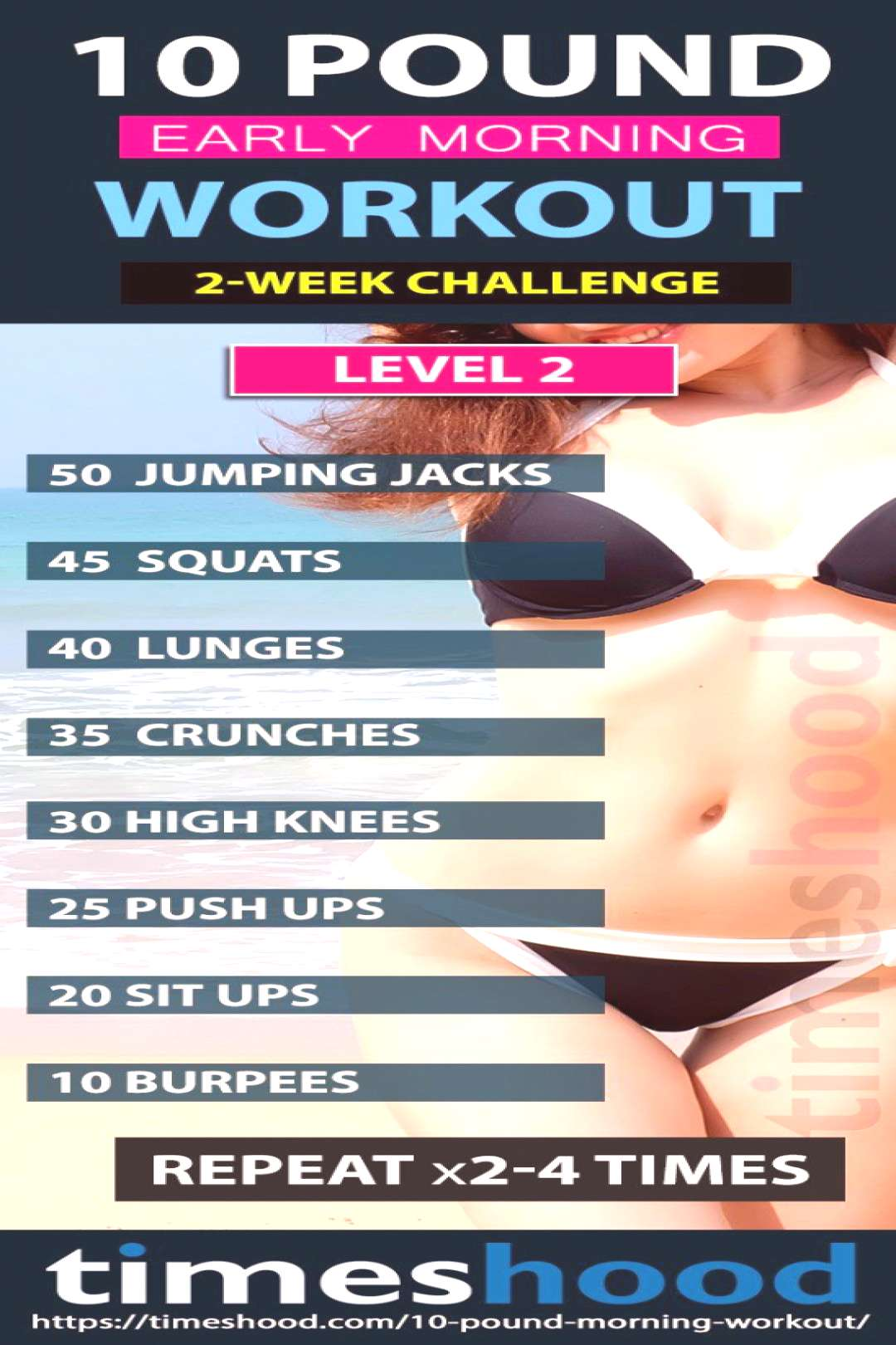 Lose 10 pounds in 2 weeks with this morning workouts plan. Best weight loss plan for women. Sexy fi