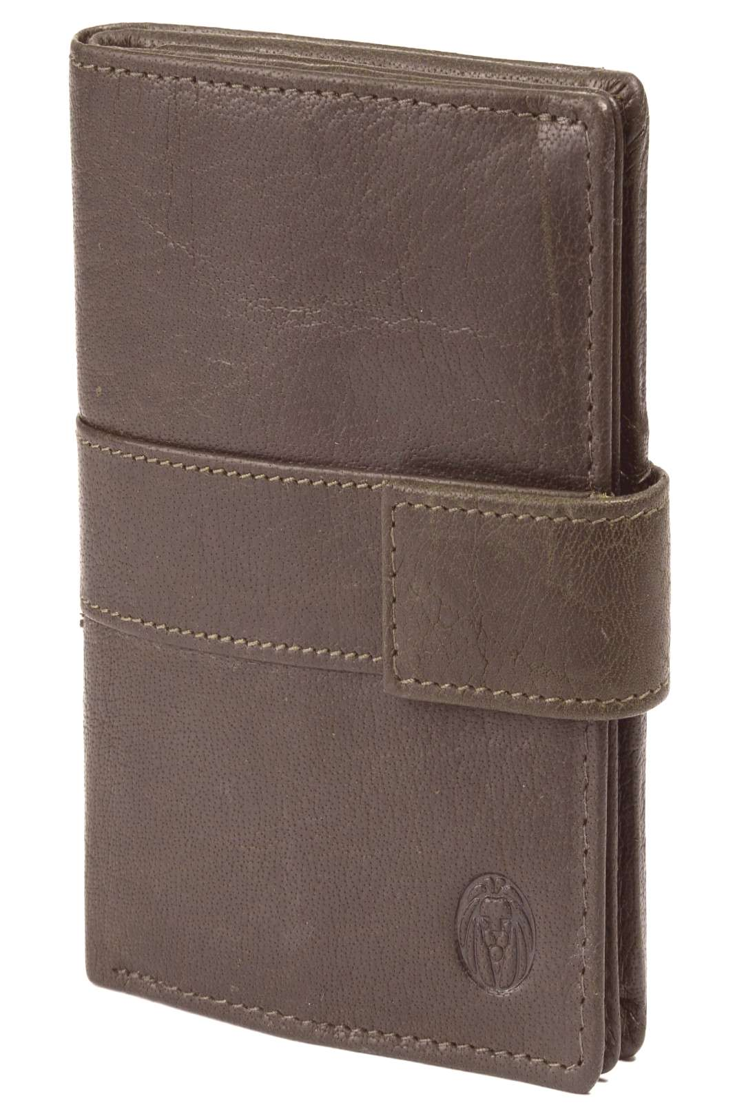 Montreal Vertical Olive RFID Leather Wallet | In stock! | Lucleon Montreal Vertical Olive RFID Leat