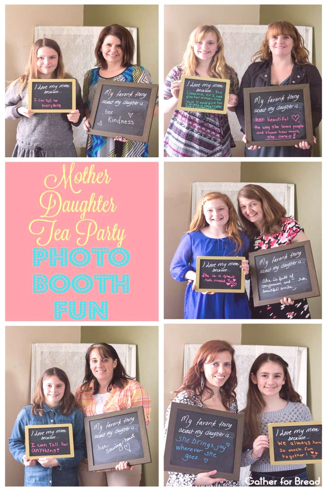 Mother Daughter Tea Party Photo Booth Fun