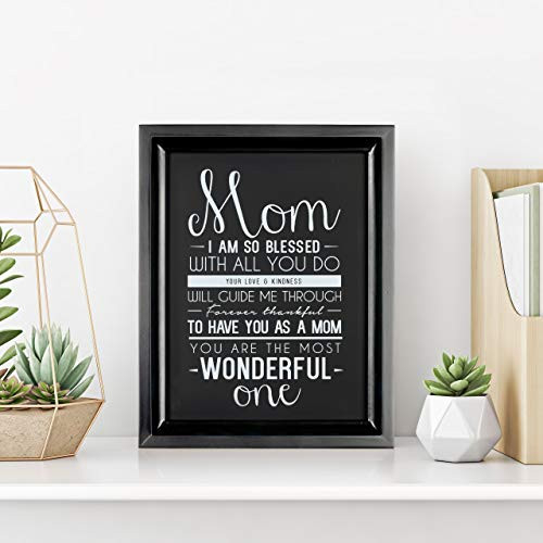 Ocean Drop Mom Gift I 8quotX10quot Framed and Ready to Hang I Best