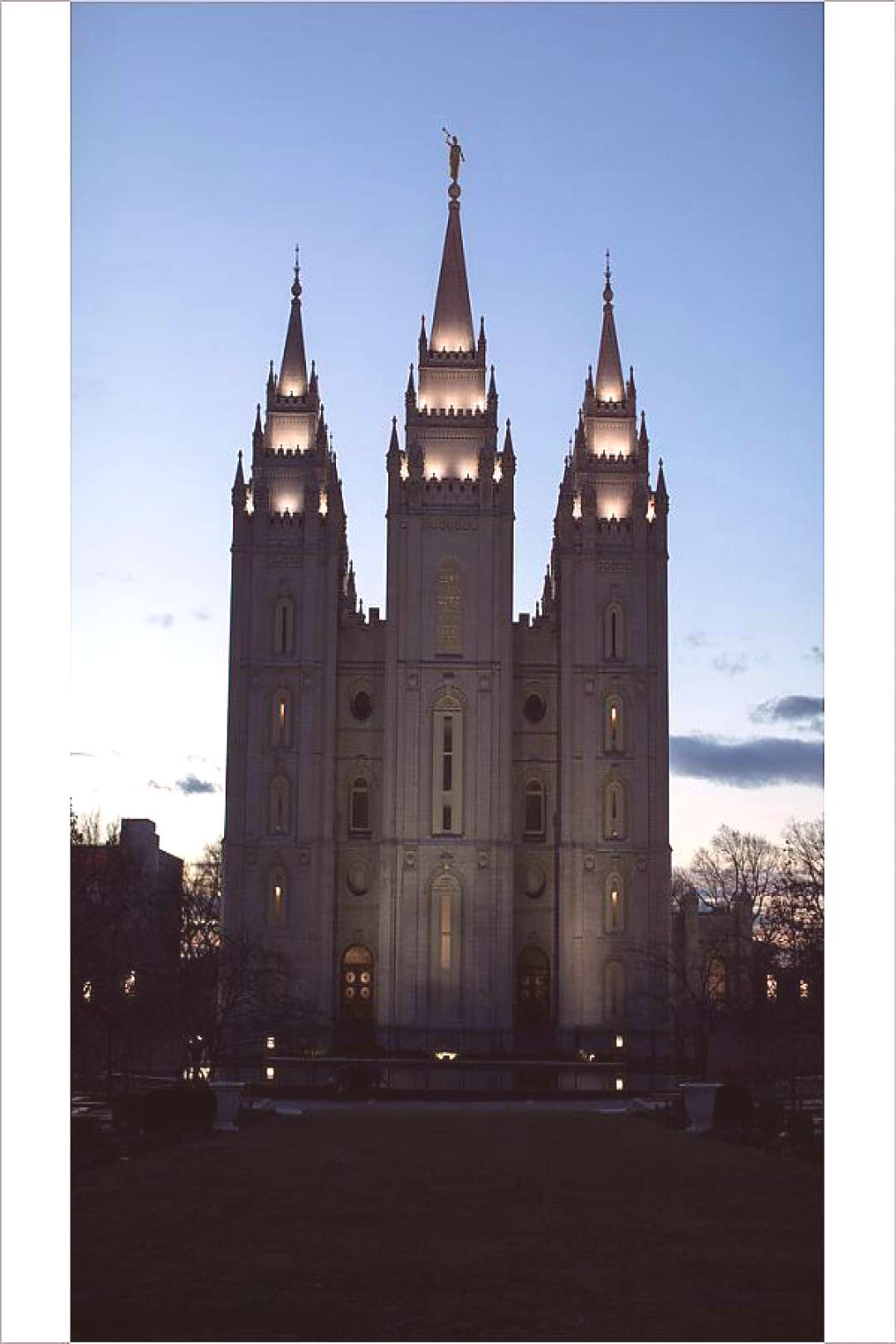 Photograph-The Mormon Temple is shown at Temple Square downtown Salt Lake City-25x20cm Print made i