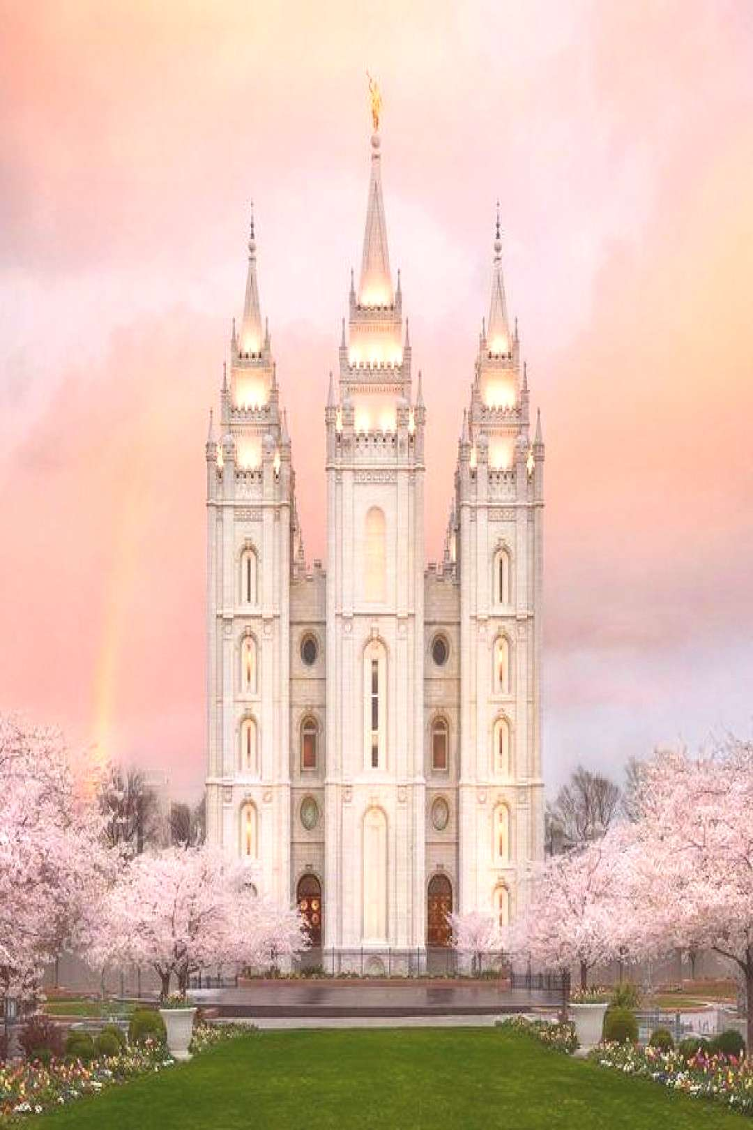 Salt Lake Temple Morning Glow - LDS Temple Pictures