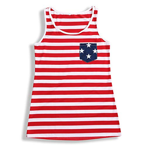 YOUNGER TREE 4th of July Mommy and Me American Flag Striped